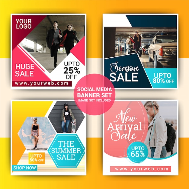Mode social media geschichten design Premium Vektoren