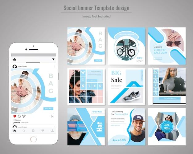 Mode social media post vorlage Premium Vektoren