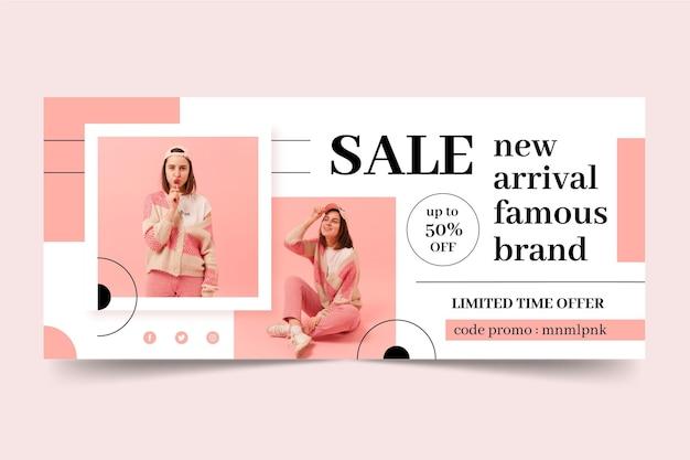Mode verkauf banner vorlage Premium Vektoren
