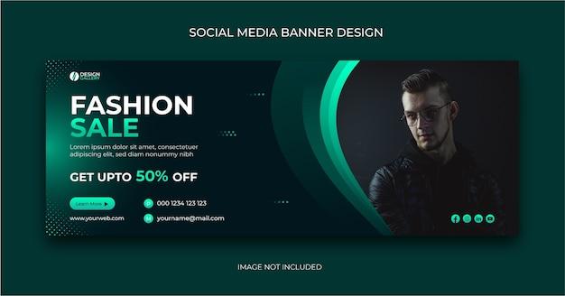Mode verkauf social media post banner vorlage Premium Vektoren