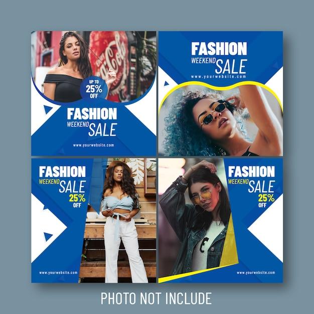 Mode verkauf social & web-banner Premium Vektoren