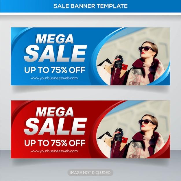 Mode verkauf web banner vorlage Premium Vektoren