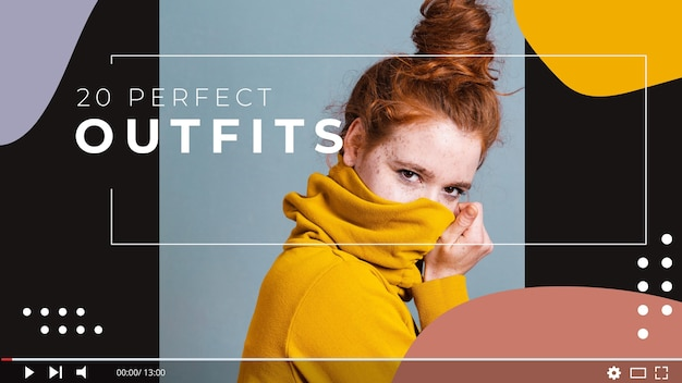 Modeblogger youtube thumbnail Kostenlosen Vektoren