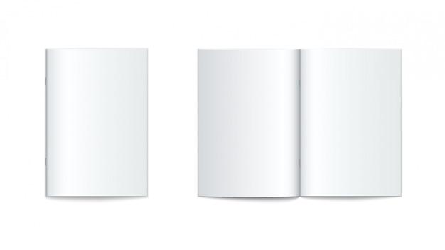 Modell der broschüre mit softcover isoliert Premium Vektoren