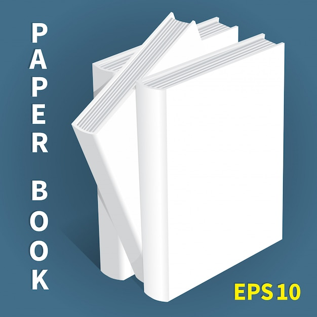 Modelle von papierbüchern Premium Vektoren