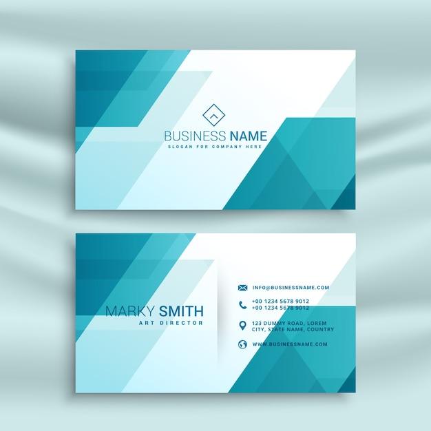 Modern Blau Und Weiß Visitenkarte Design Vorlage