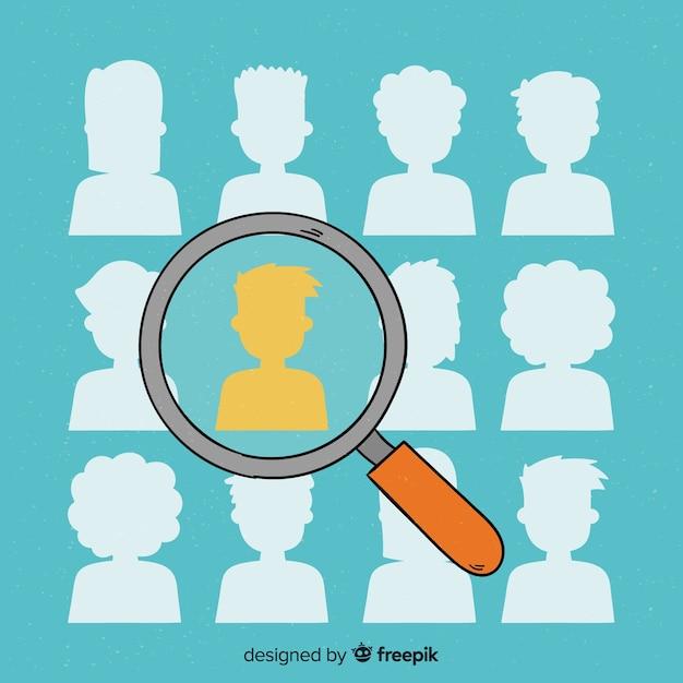 Modern sucht talentkonzept Kostenlosen Vektoren
