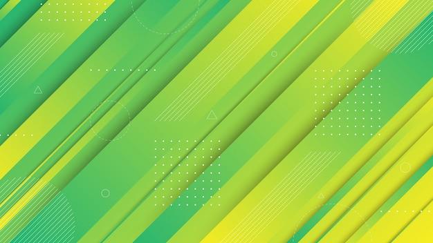 Moderne abstrakte grafische elemente. abstrakte steigungsfahnen mit flüssigen flüssigen formen und diagonalen linien. vorlagen für landingpage-design oder website-hintergrund. Premium Vektoren