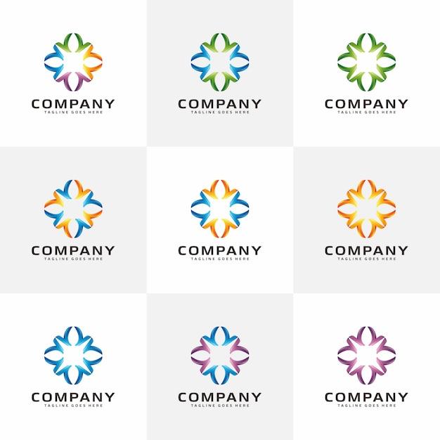 Moderne abstrakte logo inspiration Premium Vektoren
