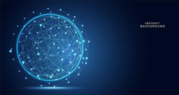 Moderne abstrakte netzwissenschaftsverbindungstechnologie Premium Vektoren