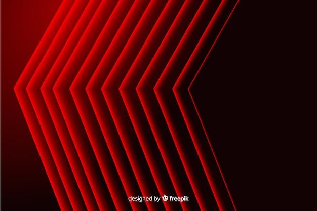 Moderne abstrakte rote spitze linien geometrischer hintergrund Kostenlosen Vektoren