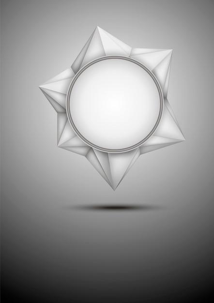 Moderne abstrakte weiße polygonale fahne des vektors. Premium Vektoren
