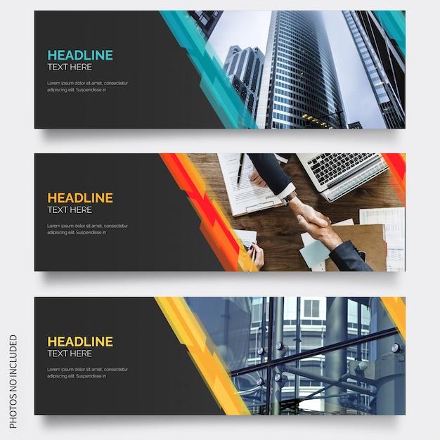 Moderne banner mit abstrakten formen Kostenlosen Vektoren
