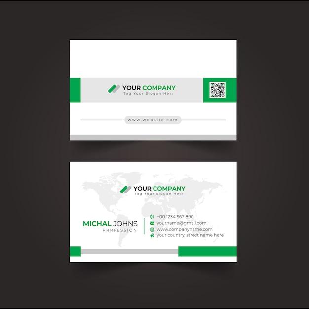 Moderne berufliche visitenkarte Premium Vektoren