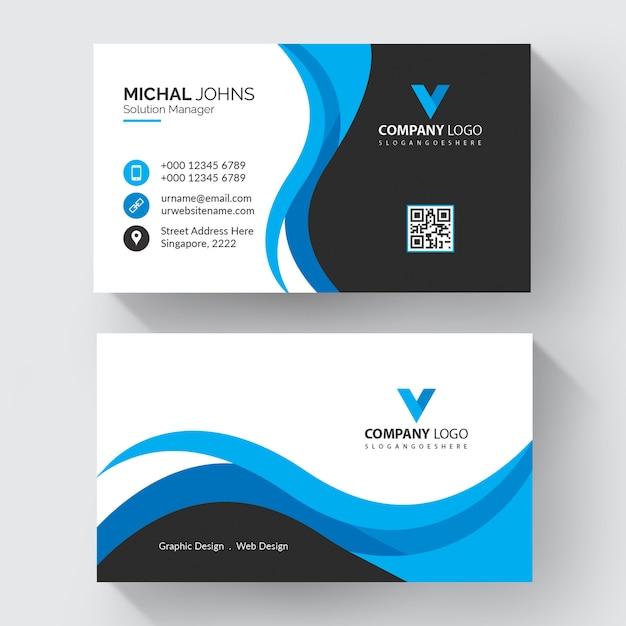 Moderne berufsvisitenkarte Premium Vektoren