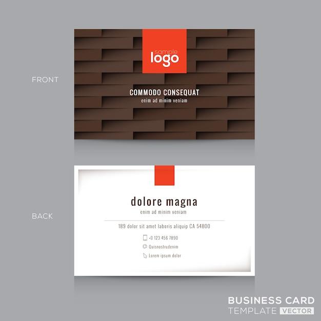 Moderne braune visitenkarte visitenkarte design vorlage - Visitenkarten kostenlos download ...