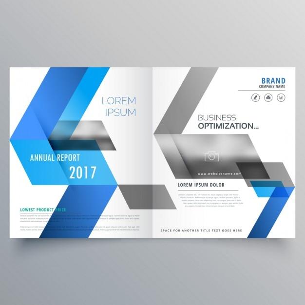 Moderne Broschüre Deckblatt Design Vorlage Mit Abstrakten Blauen