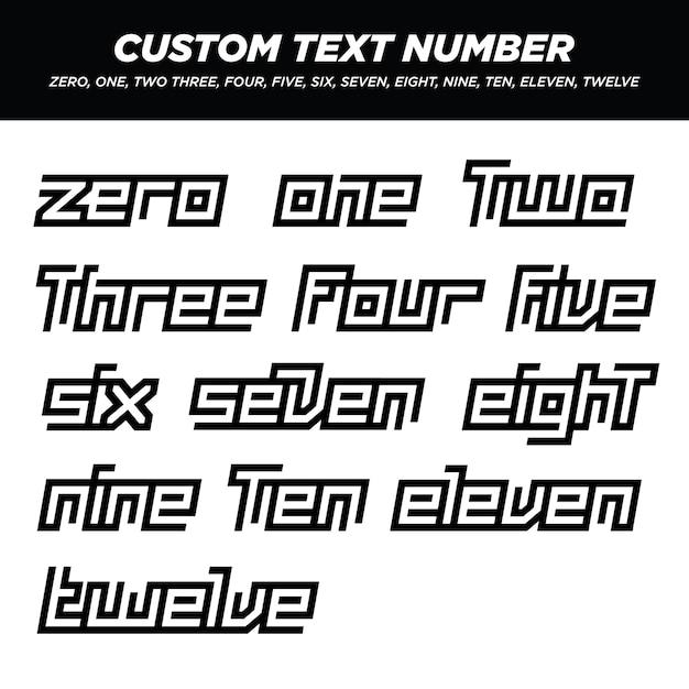 Moderne buchstaben text nummer sets Premium Vektoren