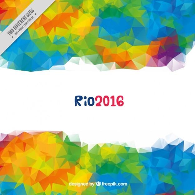 Moderne bunte polygonale hintergrund der olympischen spiele Kostenlosen Vektoren