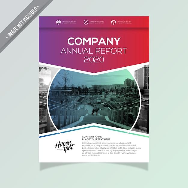 Moderne Business Broschüre Kostenlose Vektoren