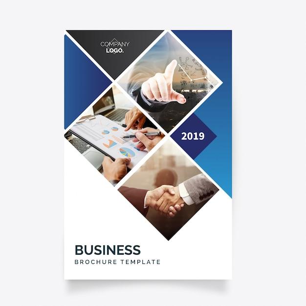 Moderne business-flyer-vorlage Kostenlosen Vektoren