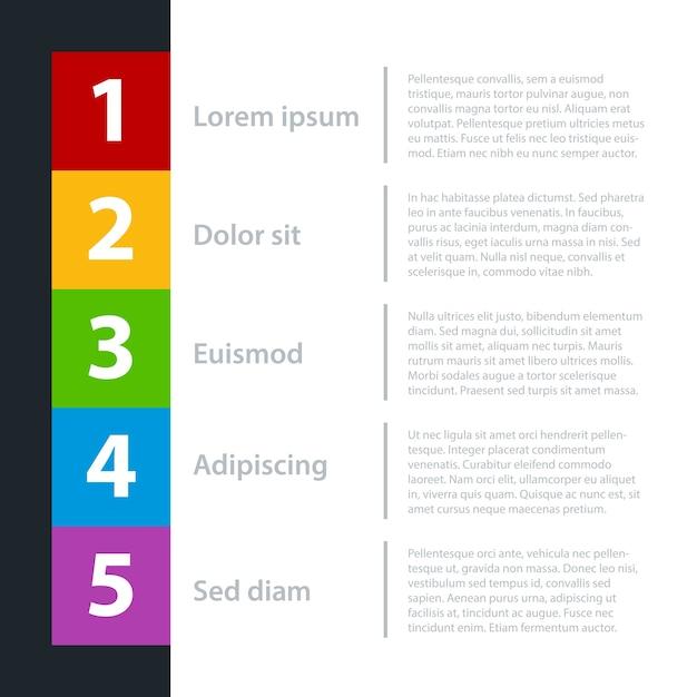 Moderne business-vorlage für präsentationen oder webdesign. sie können den gelben farbverlauf verschieben, um verschiedene optionen hervorzuheben. Premium Vektoren