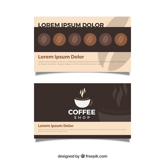 Moderne café-loyalitätskartenschablone Kostenlosen Vektoren