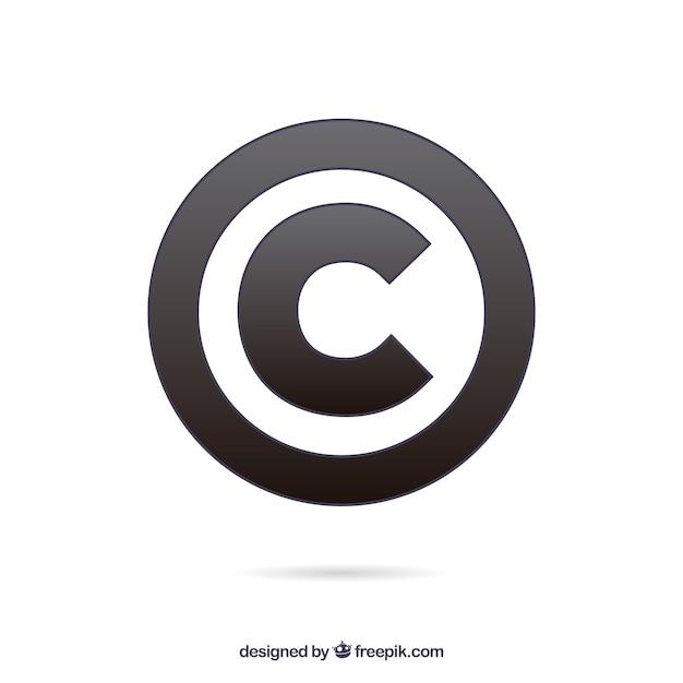 Moderne copyright-symbol vorlage Kostenlosen Vektoren
