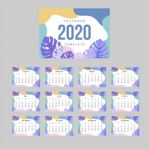 Moderne corporate kalender a4 vorlage Premium Vektoren