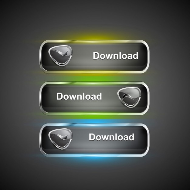 Moderne download-icons Kostenlosen Vektoren