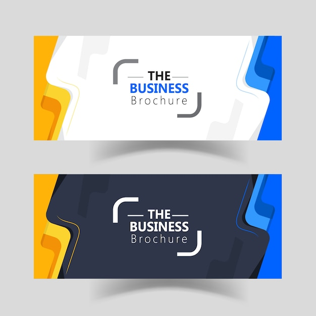 Moderne einfache Business-Web-Banner-Vorlagen-Design | Download der ...
