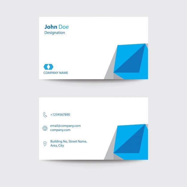 Moderne Flache Freelancer Visitenkarte Blaues Dreieck