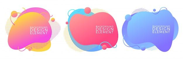 Moderne flüssige flüssige abstrakte elemente Premium Vektoren
