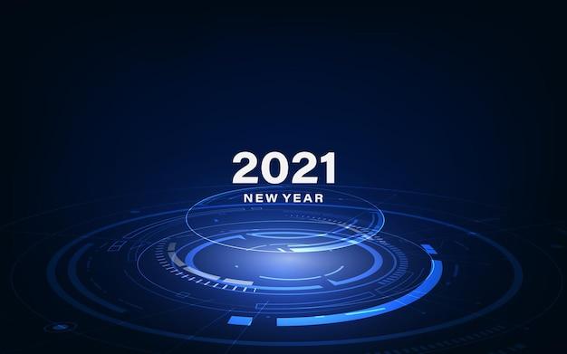 Moderne futuristische technologievorlage Premium Vektoren