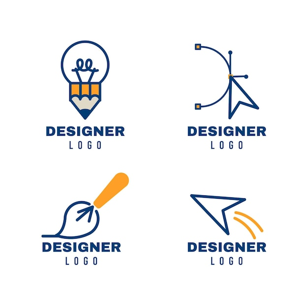 Moderne grafikdesign-logo-sammlung Premium Vektoren