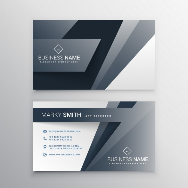 Moderne Graue Visitenkarte Template Design Kostenlose Vektor