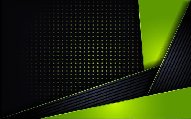 Moderne grüne kombinieren glanzpunktform Premium Vektoren