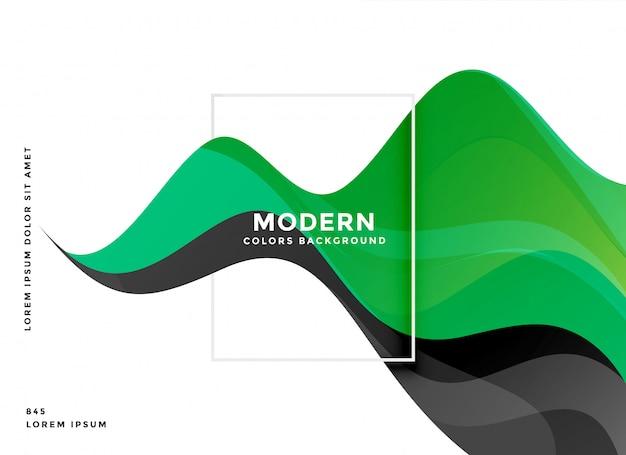 Moderne hintergrundauslegung der grünen welle Kostenlosen Vektoren