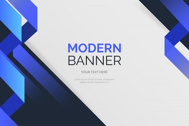 Moderne hintergrundvorlage mit blauen formen Kostenlosen Vektoren