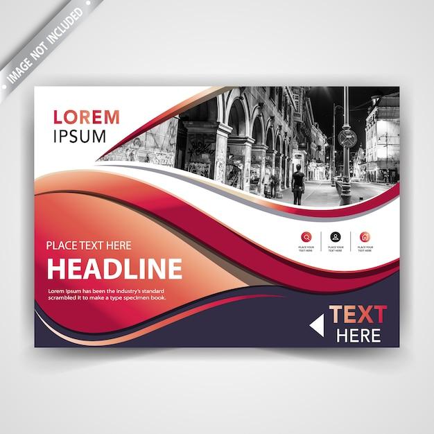 moderne horizontale Broschüre Kostenlose Vektoren