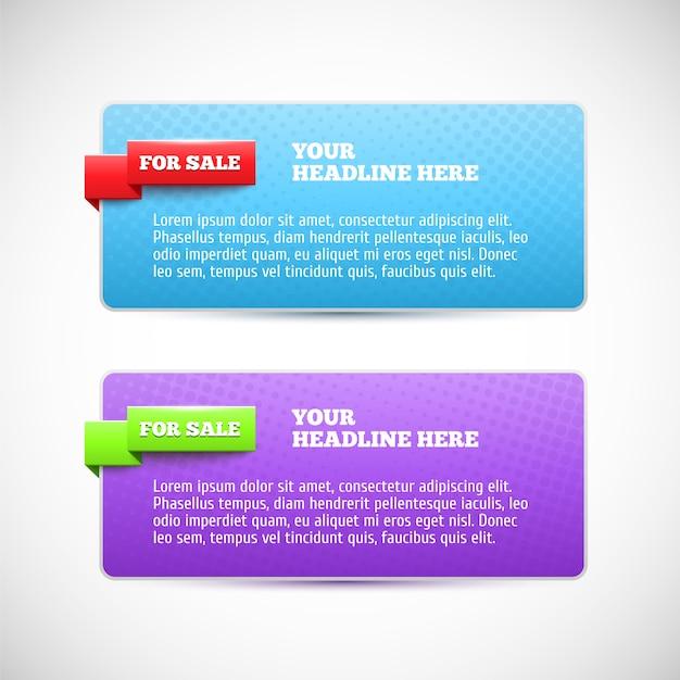 Moderne horizontale web-banner Premium Vektoren