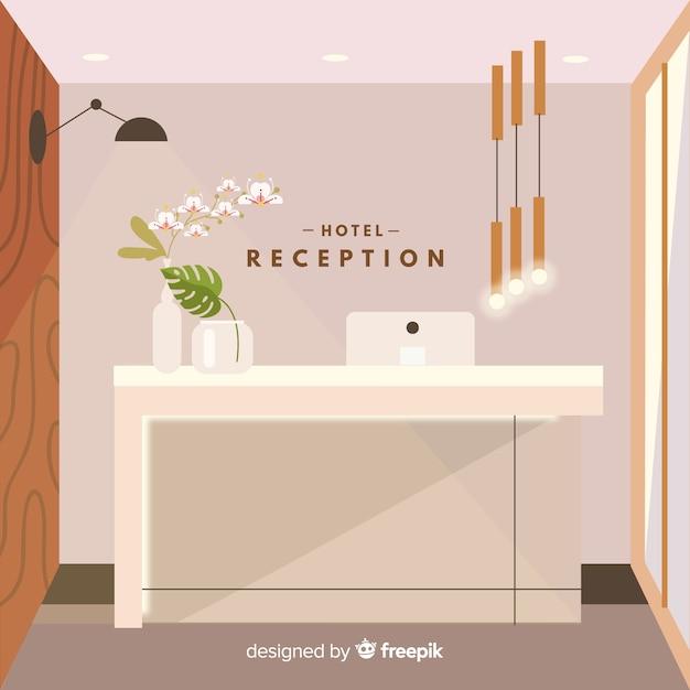 Moderne hotelrezeption Kostenlosen Vektoren