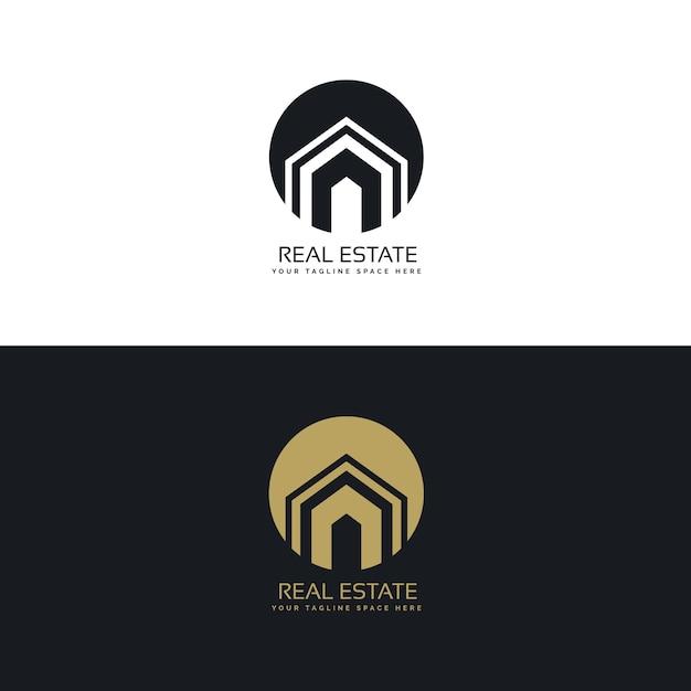 Moderne Immobilien Oder Haus Logo Design Konzept Kostenlose Vektoren