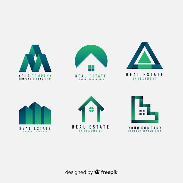 Moderne immobilienlogosammlung Kostenlosen Vektoren
