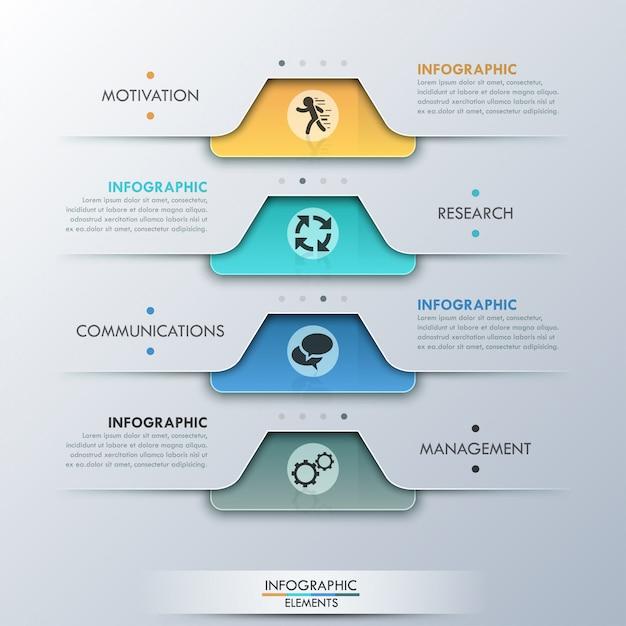 Moderne infografik-option banner Premium Vektoren
