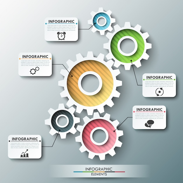 Moderne infografik optionen banner Premium Vektoren