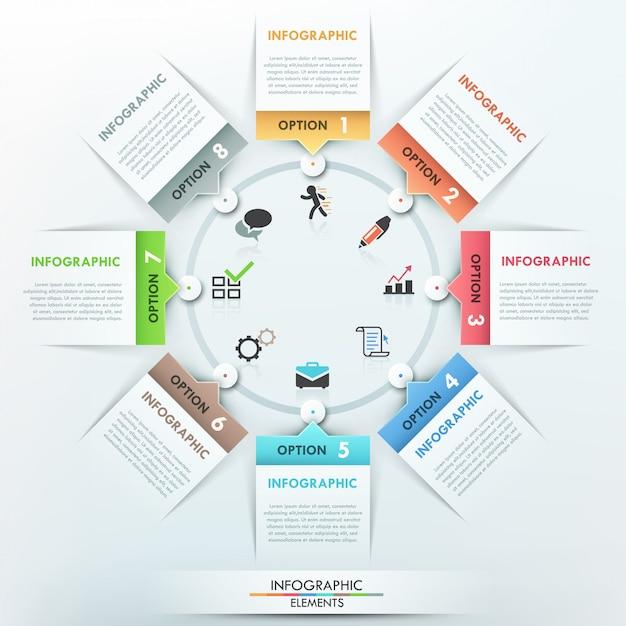 Moderne infografik-optionen-vorlage Premium Vektoren