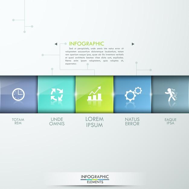 Moderne infografik-prozessvorlage Premium Vektoren