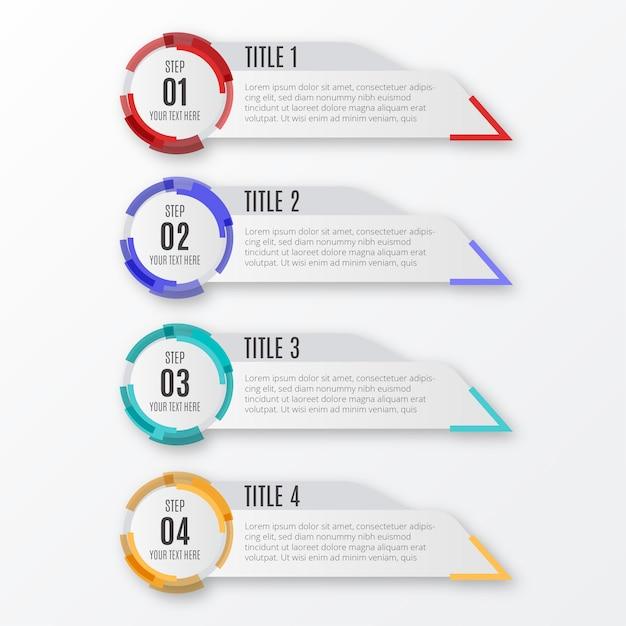 Moderne infografik-schritte Kostenlosen Vektoren