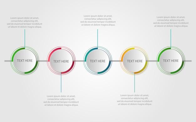 Moderne infografik-vorlage mit schritten Premium Vektoren